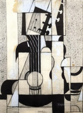 Juan Gris Painting - still life with guitar 1913 Juan Gris