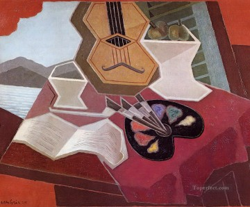 table overlooking the sea 1925 Juan Gris Oil Paintings