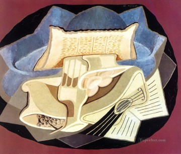 the blue cloth 1925 Juan Gris Oil Paintings