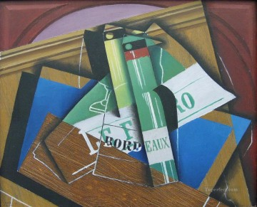 the bordeaux bottle 1915 Juan Gris Oil Paintings