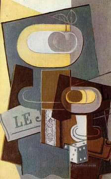 the dice 1922 Juan Gris Oil Paintings