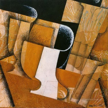 the glass the fruit bowl 1914 Juan Gris Oil Paintings