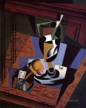 the packet of tobacco 1916 Juan Gris Oil Paintings