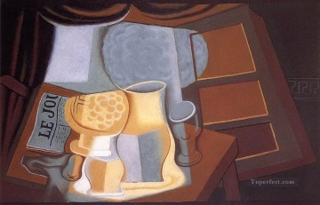 the table in front of the window 1921 Juan Gris Oil Paintings