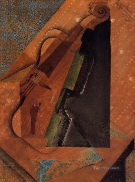 the violin 1914 Juan Gris Oil Paintings