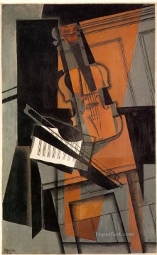 Juan Gris Painting - the violin 1916 Juan Gris