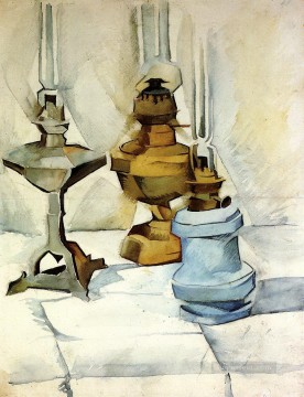 Juan Gris Painting - three lamps 1911 Juan Gris