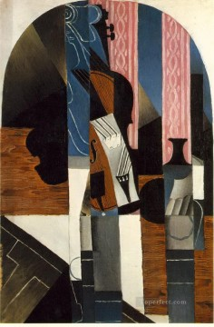 Juan Gris Painting - violin and ink bottle on a table 1913 Juan Gris
