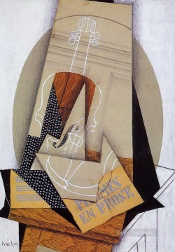 composition with violin Juan Gris Oil Paintings