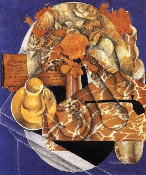 flowers 1914 Juan Gris Oil Paintings