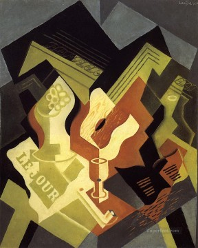 guitar and fruit dish Juan Gris Oil Paintings