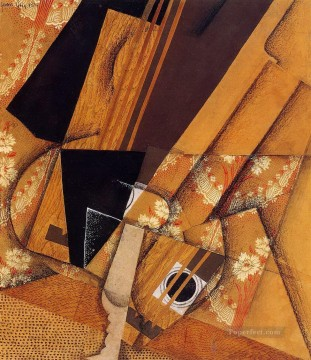 guitar and glass 1914 Juan Gris Oil Paintings