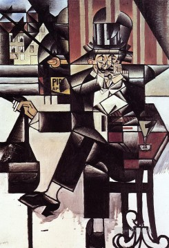 Juan Gris Painting - man in the cafe 1912 Juan Gris