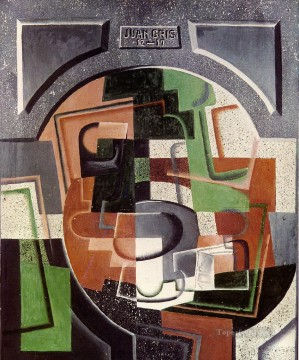 Juan Gris Painting - still life on plaque 1917 Juan Gris