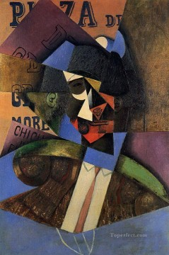 cattle bull cow Painting - the bull fighter 1913 Juan Gris
