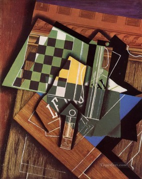 the checkerboard 1915 Juan Gris Oil Paintings