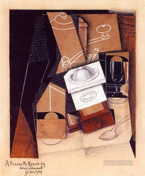 Juan Gris Painting - the coffee grinder 1916 Juan Gris