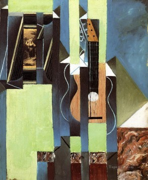 the guitar 1913 Juan Gris Oil Paintings