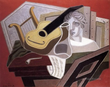 Juan Gris Painting - the musician s table 1926 Juan Gris