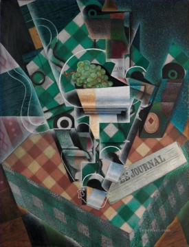 Still Life with Checked Tablecloth Juan Gris Oil Paintings