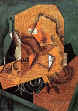 the packet of coffee 1914 Juan Gris Oil Paintings