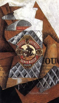 the bottle of anis del mono 1914 Juan Gris Oil Paintings