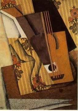 the guitar 1914 Juan Gris Oil Paintings