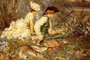 Afternoon Works - An Afternoon Of Fishing women Kaemmerer Frederik Hendrik