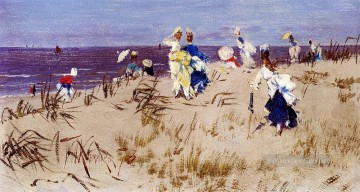 women Painting - Elegant Women On The Beach women Kaemmerer Frederik Hendrik