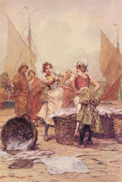 Frederik Hendrik Kaemmerer Painting - The Fishwives women Kaemmerer Frederik Hendrik