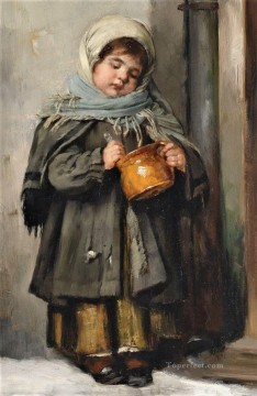 Polish Oil Painting - Polish Kids 10 Karl Witkowski