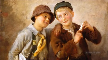 Polish Oil Painting - Polish Kids 11 Karl Witkowski
