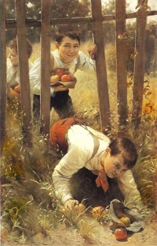 Polish Oil Painting - Polish Kids 02 Karl Witkowski
