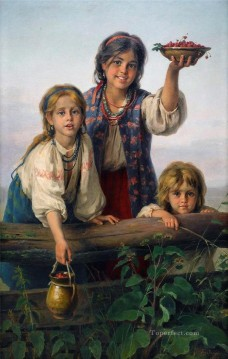 Polish Oil Painting - Polish Kids 03 Karl Witkowski