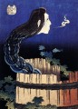 a woman ghost appeared from a well Katsushika Hokusai Ukiyoe