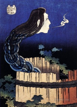 a woman ghost appeared from a well Katsushika Hokusai Ukiyoe Oil Paintings