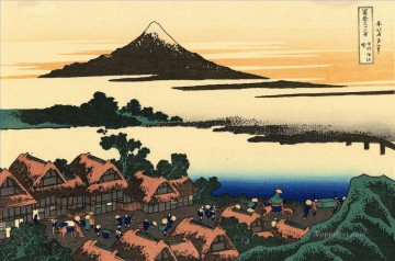 Dawn Painting - dawn at isawa in the kai province Katsushika Hokusai Ukiyoe