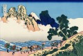 the back of the fuji from the minobu river Katsushika Hokusai Ukiyoe