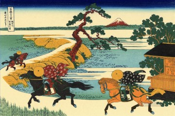 the fields of sekiya by the sumida river 1831 Katsushika Hokusai Ukiyoe Oil Paintings