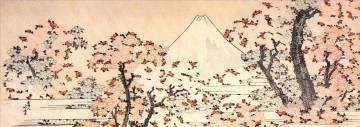mount fuji seen throught cherry blossom Katsushika Hokusai Ukiyoe Oil Paintings