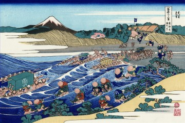 the fuji from kanaya on the tokaido Katsushika Hokusai Ukiyoe Oil Paintings
