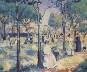 Kazimir Malevich Painting - on the boulevard 1 Kazimir Malevich
