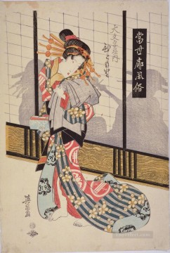 on - the courtesan hitomoto of the daimonjiya house Keisai Eisen Ukiyoye