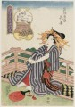the fifth month hanagoromo of the wakanaya Keisai Eisen Ukiyoye