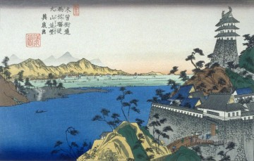 on - unuma pl 53 from a facsimile edition of sixty nine stations of the kiso highway Keisai Eisen Ukiyoye