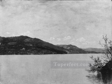 Lake Oil Painting - Lake George 1872 Luminism seascape John Frederick Kensett