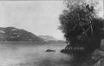 Lake Painting - Lake George A Reminiscence Luminism seascape John Frederick Kensett