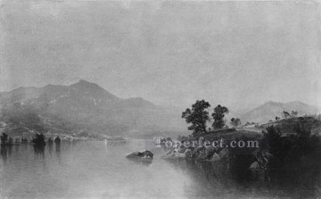 Lake Oil Painting - Lake George New York Luminism seascape John Frederick Kensett