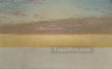 Sunset Art - Sunset Sky Luminism seascape John Frederick Kensett