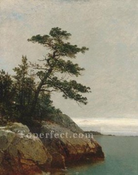 The Old Pine Darien Connecticut Luminism seascape John Frederick Kensett Oil Paintings